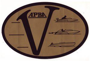 Vintage APBA decal
